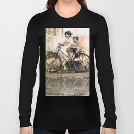 Kids on Bicycle - Reflections of Penang Long Sleeve T-shirt