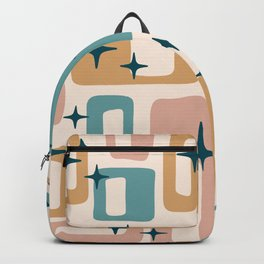 Retro Mid Century Modern Abstract Pattern 126 Backpack