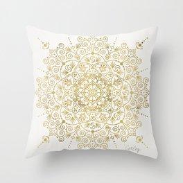 Moroccan Mandala – Gold Palette Throw Pillow