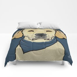 Icons of the Dog Park: Yellow Labrador Design in Bold Colors for Pet Lovers Comforters