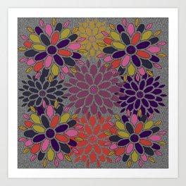 Floral Block Art Print