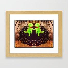 Double dino Framed Art Print