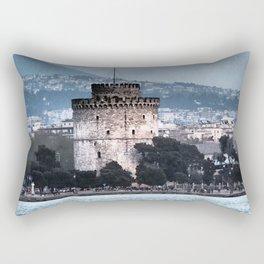 White Tower-Thessaloniki Rectangular Pillow