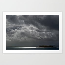 Cloudy island Art Print
