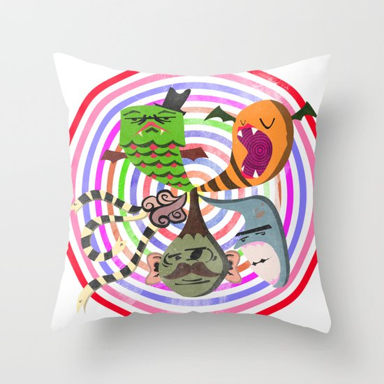 scary makes you happy Throw Pillow