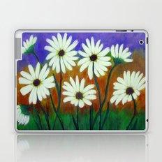 White daisies-Abstract Laptop & iPad Skin