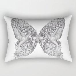 FLOWERS, FEATHERS & FLUTTERS Rectangular Pillow