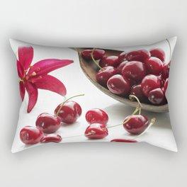Fresh cherries straight from the tree Rectangular Pillow