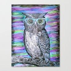 Owl Typography Canvas Print