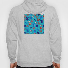 Summer Swim Party Pattern Hoody