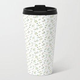 orange - subtle pattern Metal Travel Mug