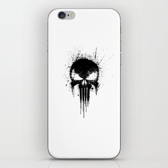 Black Skull iPhone & iPod Skin