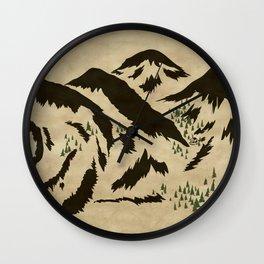 Sleepy Bear Mountain Wall Clock