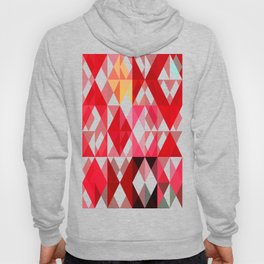 Mottled Red Poinsettia 2 Abstract Triangles 1 Hoody