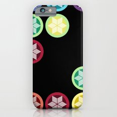 Colorful Snowflake Print: Black Slim Case iPhone 6s