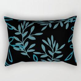 Leafy Teal Rectangular Pillow