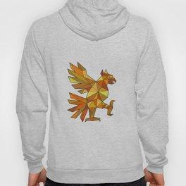Cuauhtli Glifo Eagle Fighting Stance Low Polygon Hoody