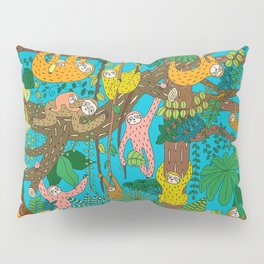 Happy Sloths Jungle Pillow Sham