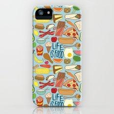 LIFE IS FOOD iPhone (5, 5s) Slim Case