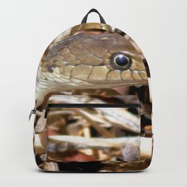 Watercolor Snake, Western Garter Snake 01, Estes Park, Colorado Backpack