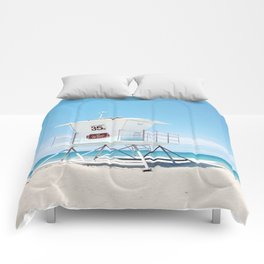 Lifeguard tower Carlsbad 35 Comforters
