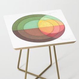 Concentric Circles Forming Equal Areas Side Table