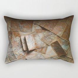 Vintage Maps (Color) Rectangular Pillow