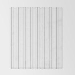 White Black Pinstripes Minimalist Throw Blanket