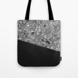 Terrazzo Texture Grey Black #7 Tote Bag