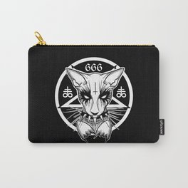 Black Metal Cat Carry-All Pouch