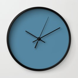 Denim Blue - Solid Color Collection Wall Clock