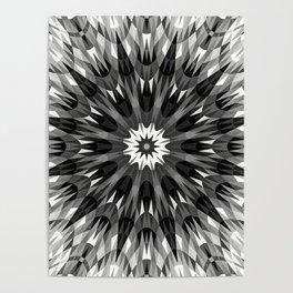 Black Crystal Mandala Poster