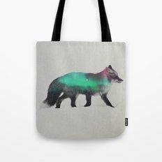 Fox In The Aurora Borealis Tote Bag