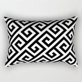 Greek Key Black Rectangular Pillow