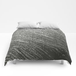 Free hand black and white  lines Comforters
