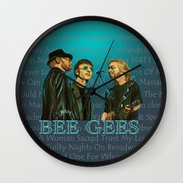 Bee Gee's Poster Wall Clock