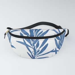 Eucalyptus Branches Blue Fanny Pack