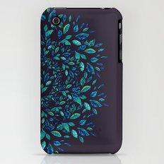 Blue Leaves Mandala Slim Case iPhone (3g, 3gs)