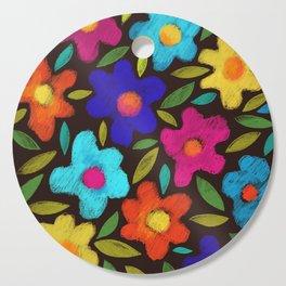 night flowers Cutting Board