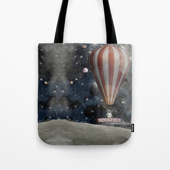 a space adventure Tote Bag