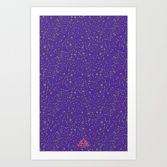 Trail Status / Mountain Purple Art Print
