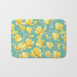 Yellow Magnolia Spring Bloom Bath Mat
