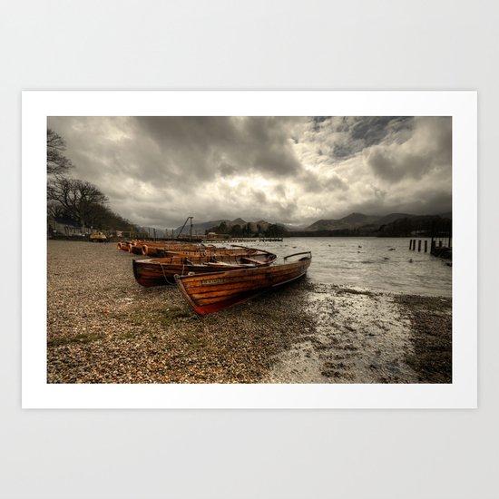 Stormy Skies over Derwent Water  Art Print