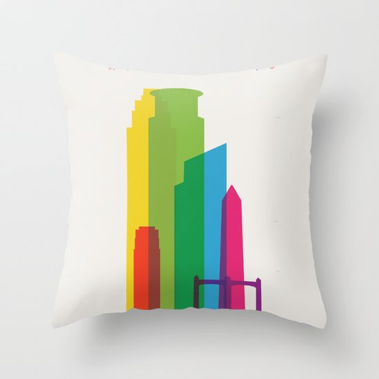 Shapes of Minneapolis Throw Pillow
