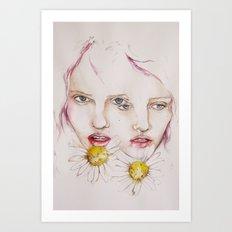 Make me a flower Art Print