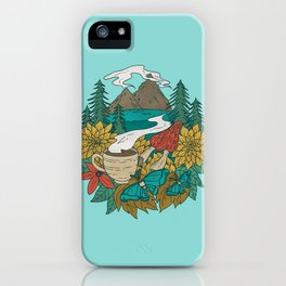 Pacific Northwest Coffee and Nature iPhone Case