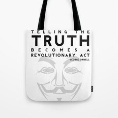 Truth Revolution - V for Vendetta Tote Bag