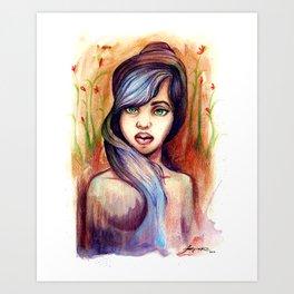 She is Lavender Art Print
