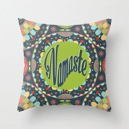 Mandala - Namaste Throw Pillow