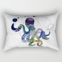 Galaxy Octopus on marble background Rectangular Pillow